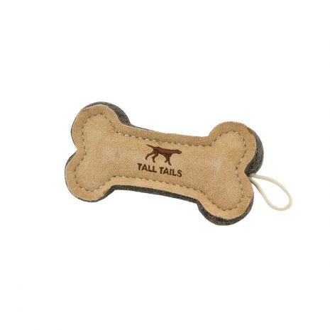 Tall Tails Natural Leather Wool Toys 6 Bone