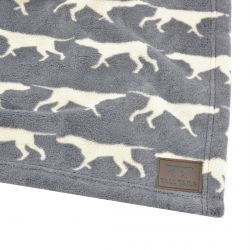 Grey Icon Dog Blanket